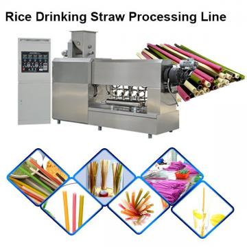Industrial Biodegradable Edible Ecoware Rice Tapioca Drinking Straw Maker Making Machine